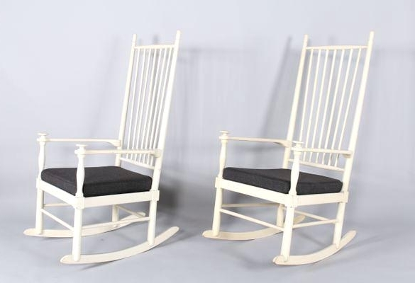 2018 White Patio Rocking Chair For Sale (View 2 of 20)
