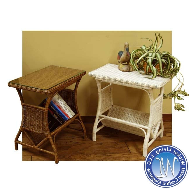 2018 Wicker Rocking Chair With Magazine Holder In Wicker Magazine Holder End Table (View 1 of 20)