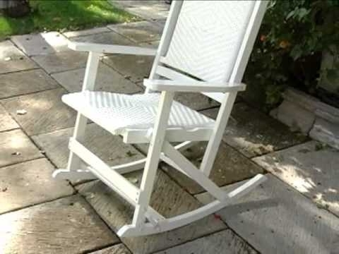 2018 Willow Bay Folding Resin Wicker Rocking Chair White – Product Review With Regard To Plastic Patio Rocking Chairs (View 3 of 20)