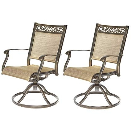 Aluminum Patio Rocking Chairs Regarding Most Current Amazon: Dali Swivel Rocker Chair,cast Aluminum All Weather (View 4 of 20)