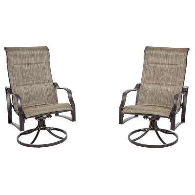 Aluminum Patio Rocking Chairs Regarding Widely Used Hampton Bay – Swivel – Aluminum – Patio Chairs – Patio Furniture (View 5 of 20)