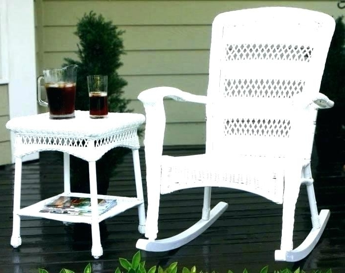 Aluminum Resin Wicker Rocking Chair Outdoor Chairs Black Rockers Inside Recent Outdoor Rocking Chairs With Table (View 2 of 20)
