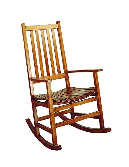 Amazon: Coaster Traditional Wood Rocking Chair: Kitchen & Dining With Regard To Best And Newest Amazon Rocking Chairs (View 11 of 20)