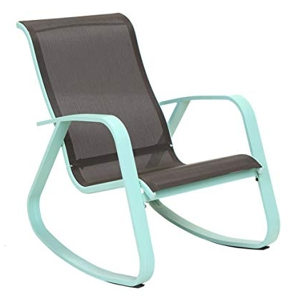 Amazon: Grand Patio Modern Swing Rock Chair Glider With Macaron In Favorite Aluminum Patio Rocking Chairs (View 8 of 20)