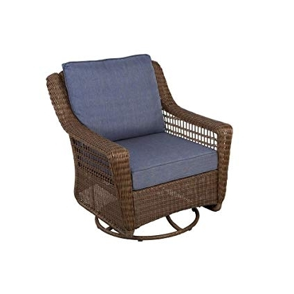 Amazon : Hampton Bay Spring Haven Brown All Weather Wicker Patio For Most Recent Patio Rocking Swivel Chairs (View 4 of 20)