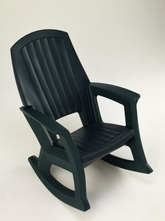 Amazon : Hunter Green Outdoor Rocking Chair – 600 Lb (View 3 of 20)