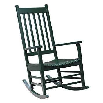 Amazon : International Concepts R 51865 Porch Rocker, Hunter Regarding Latest Patio Rocking Chairs With Covers (View 2 of 20)