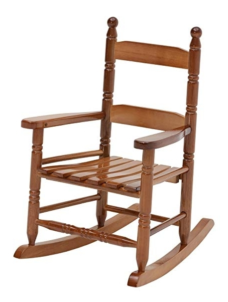 Amazon : Jack Post Kn 10N Classic Child's Porch Rocker Natural For Well Liked Xl Rocking Chairs (Gallery 20 of 20)