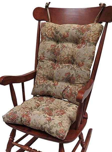 Amazon: Klear Vu The Gripper Non Slip Somerset Tapestry Jumbo Throughout Fashionable Amazon Rocking Chairs (View 15 of 20)