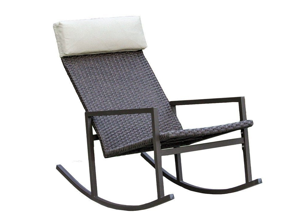 Amazon : Living Express Stone Harbor Outdoor Rattan Wicker With Regard To 2018 Rattan Outdoor Rocking Chairs (View 2 of 20)