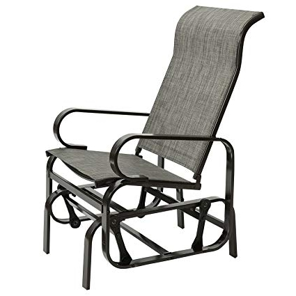 Amazon : Marble Field Patio Sling Rocker Chair, Outdoor Glider Pertaining To Famous Patio Sling Rocking Chairs (Gallery 5 of 20)