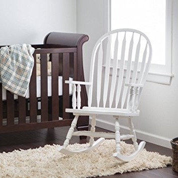 Amazon Rocking Chairs In Current Amazon Com Windsor Baby Nursery Rocking Chair White Regarding Cheap (View 12 of 20)