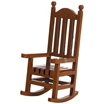 Amazon Rocking Chairs Within 2018 Amazon: Darice 9190 562 Timeless Miniatures, Wood Rocking Chair (View 9 of 20)