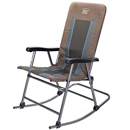 Amazon : Timber Ridge Rocking Chair Folding Padded Patio Lawn In Best And Newest Padded Patio Rocking Chairs (Gallery 13 of 20)