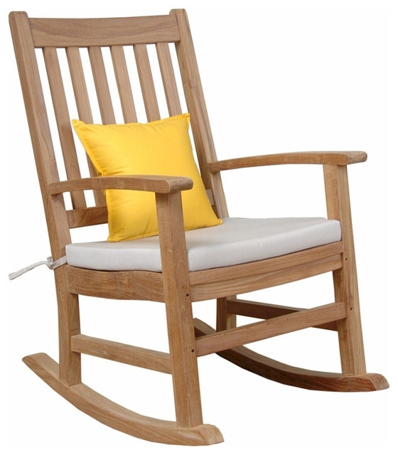 Anderson Teak Patio Lawn Garden Furniture Palm Beach Rocking In Recent Teak Patio Rocking Chairs (View 19 of 20)