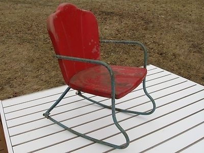 Antique Metal Childs/dolls Outdoor Rocking Pertaining To Most Recently Released Vintage Outdoor Rocking Chairs (View 2 of 20)