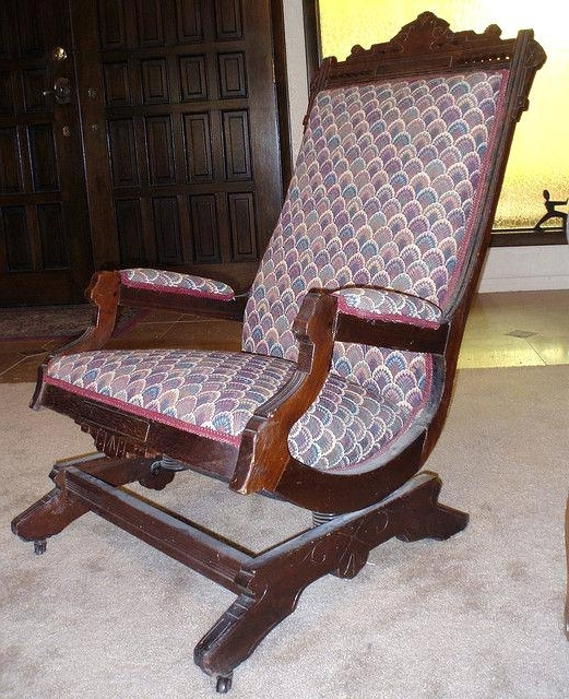 Antique Platform Rocking Chair With Springs Back To Antique Rocking Intended For Favorite Rocking Chairs With Springs (View 4 of 20)