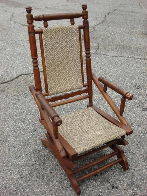 Antique Rocking Chair Antique Rocking Chairs With Springs Inside Preferred Rocking Chairs With Springs (View 6 of 20)
