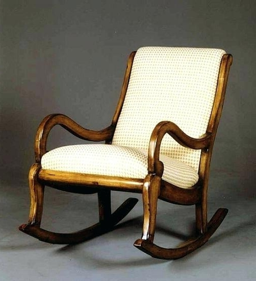 Antique Upholstered Rocking Chair Antique Mahogany Empire Style With Well Known Upholstered Rocking Chairs (View 13 of 20)