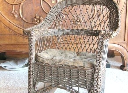 Antique Wicker Rocking Chair Antique Wicker Rocking Chairs Antique Inside Well Known Antique Wicker Rocking Chairs With Springs (View 2 of 20)