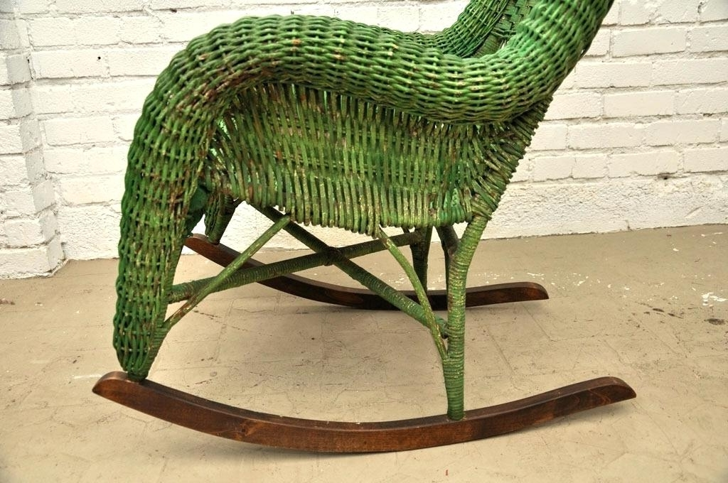 Antique Wicker Rocking Chairs With 2018 Antique Wicker Rocking Chair Prices Wicker Rocking Chair As Real (Gallery 11 of 20)