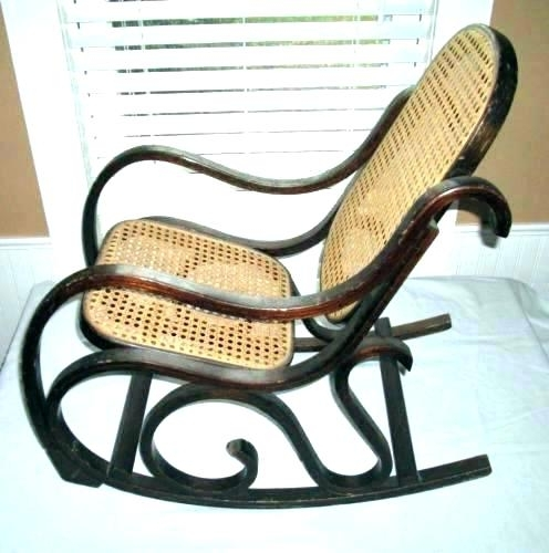 Antique Wicker Rocking Chairs With Current Antique Cane Rocking Chair Antique Wicker Rocking Chair Vintage (View 6 of 20)