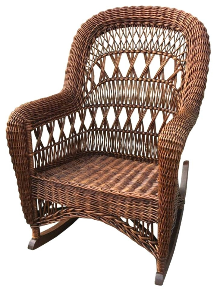 Antique Wicker Rocking Chairs With Springs Regarding Fashionable Antique Wicker Rocking Chair Antique Wicker Rocking Chair With (View 5 of 20)