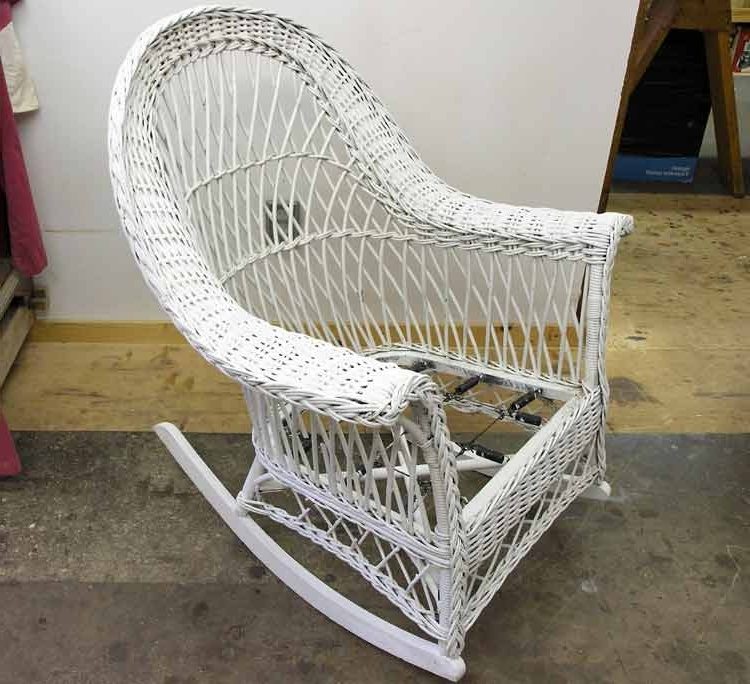 Antique Wicker Rocking Chairs With Springs With Regard To Fashionable 18 Design Of Vintage Wicker Chair Manificent Stunningvintage Wicker (View 8 of 20)