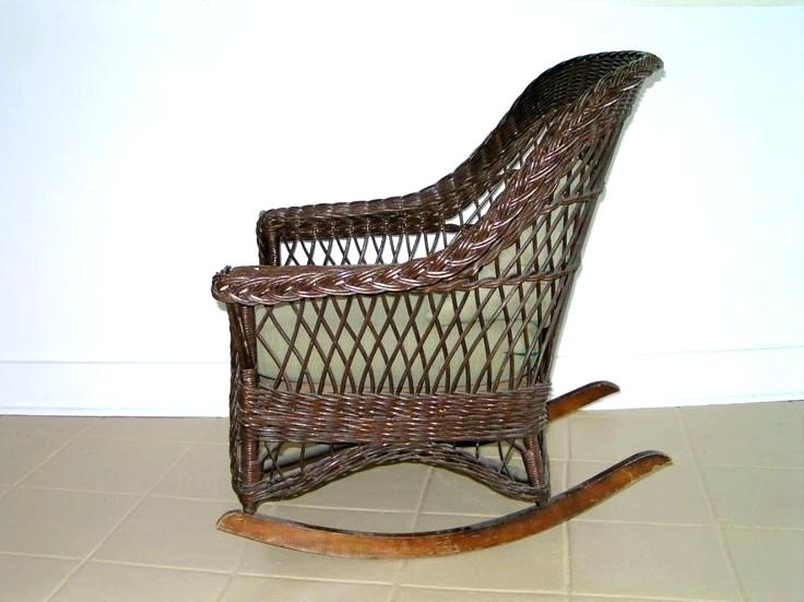 Appealing Vintage Cane Rocking Chair Vintage Wicker Chair Vintage With Popular Vintage Wicker Rocking Chairs (View 4 of 20)