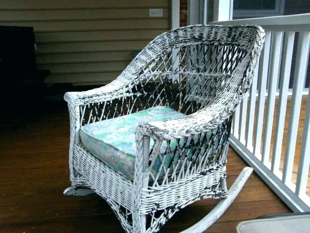 Appealing Vintage Cane Rocking Chair Vintage Wicker Chair Vintage Within Latest Vintage Wicker Rocking Chairs (View 5 of 20)