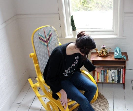 Archie And The Rug: Rocking Chair Upcycle Regarding Fashionable Upcycled Rocking Chairs (View 3 of 20)