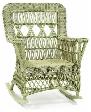 Astonishing Wicker Rocking Chair As Real Exotic Furniture Home Decor Inside Newest White Wicker Rocking Chairs (Gallery 5 of 20)