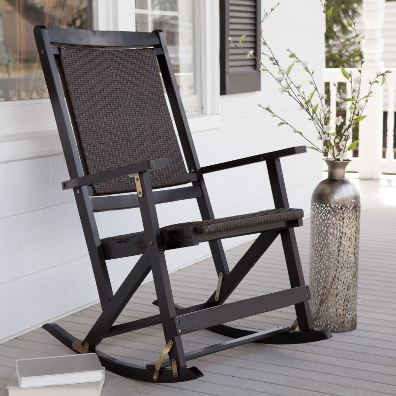 Attractive Modern Outdoor Rocker Incredible Black Outdoor Rocking Inside Widely Used Modern Patio Rocking Chairs (View 2 of 20)