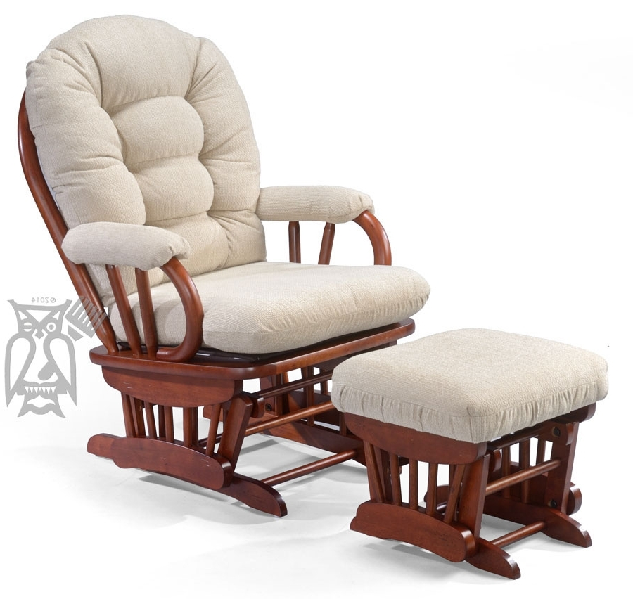 Bedazzle Glider Rocking Chair And Ottoman Set (View 20 of 20)