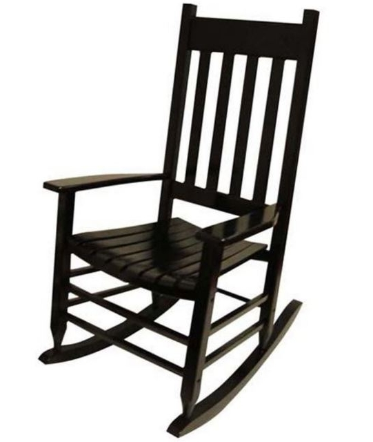 Best And Newest Black Patio Rocking Chair Garden Treasures Outdoor Furniture Porch Pertaining To Black Patio Rocking Chairs (View 1 of 20)