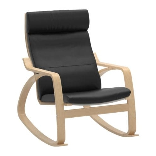 Best And Newest Ikea Rocking Chairs In Poäng Rocking Chair – Smidig Black – Ikea (View 3 of 20)