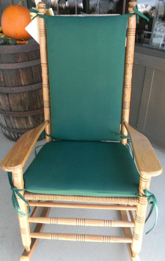 Best And Newest Indoor / Outdoor Rocking Chair Cushions – Fits Cracker Barrel Rocker In Unique Outdoor Rocking Chairs (View 2 of 20)