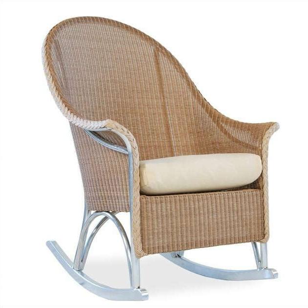 Best And Newest Lloyd Flanders Wicker Hi Back Lounge Rocker – Wicker Inside High Back Rocking Chairs (View 14 of 20)