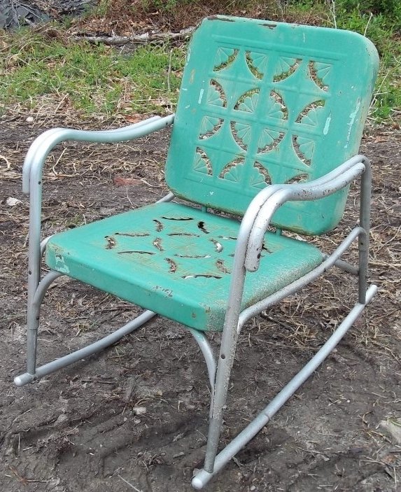 Best And Newest Retro Outdoor Rocking Chairs With Vintage Metal Outdoor Rocking Chairs – Fripons Designs (View 3 of 20)