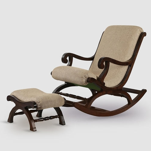 Best And Newest Teak Wood Rocking Chair With Foot Rest At Rs 55499 /pair With Regard To Rocking Chairs With Footrest (View 4 of 20)