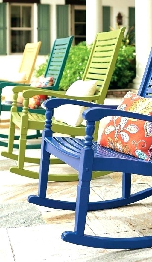 Best And Newest Used Patio Rocking Chairs With Rocking Chair Cushions For Sale Outdoor Rocking Chairs For Sale Lawn (View 3 of 20)