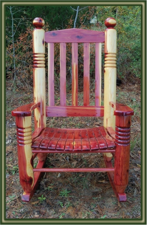 Big Ben Cedar Rocking Chair – Porch Swings – Patio Swings – Outdoor Pertaining To Fashionable Patio Furniture Rocking Benches (View 2 of 20)