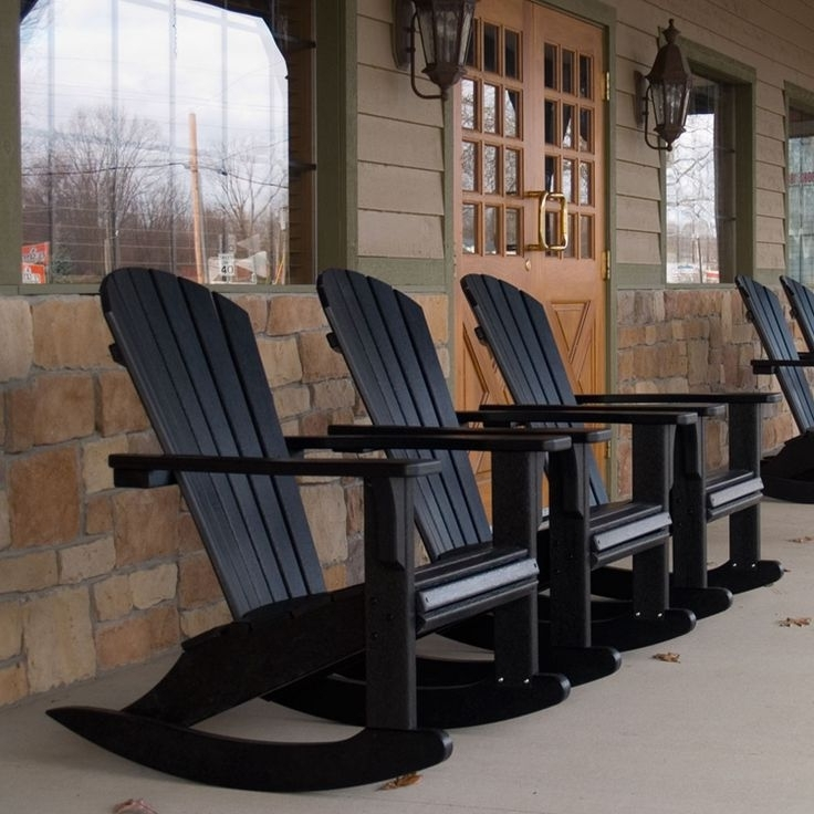 Black Patio Rocking Chairs For Widely Used Black Wicker Rocking Chairs – Torino (View 11 of 20)
