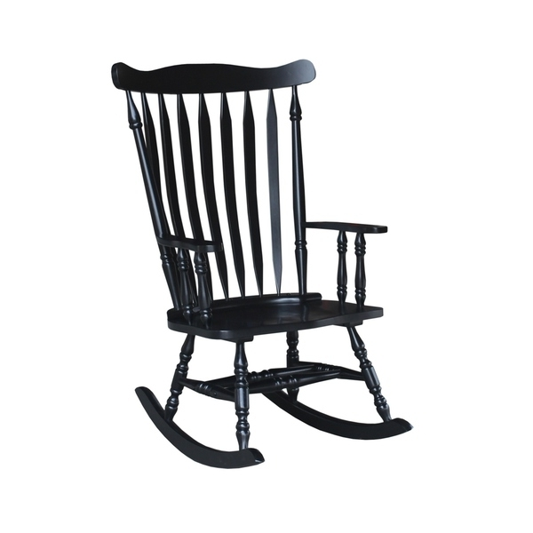 Black Rocking Chairs Regarding Most Recent Shop Colonial Antique Black Rocking Chair – Free Shipping Today (View 8 of 20)