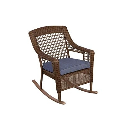Brown Patio Rocking Chairs Inside Trendy Amazon : Hampton Bay 66 20312 Spring Haven Brown All Weather (View 5 of 20)