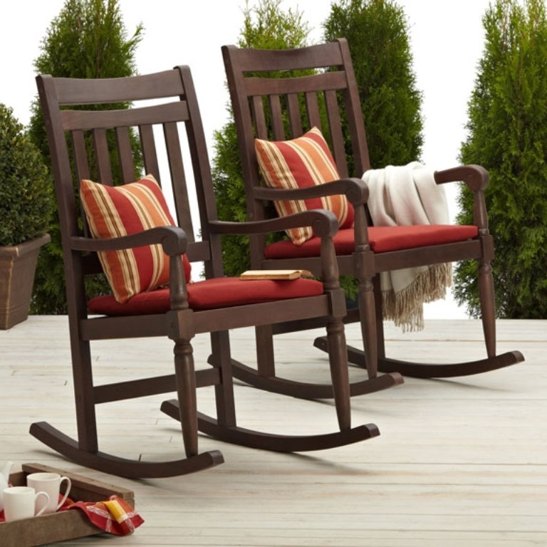 Brown Patio Rocking Chairs Regarding 2017 The Elegant Astonishing Outdoor Rocking Chair For Existing Property (View 6 of 20)