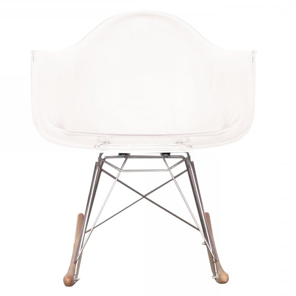 Buy Eames Style Clear Plastic Retro Rocking Chair From Fusion Living Regarding Most Popular Retro Rocking Chairs (View 2 of 20)