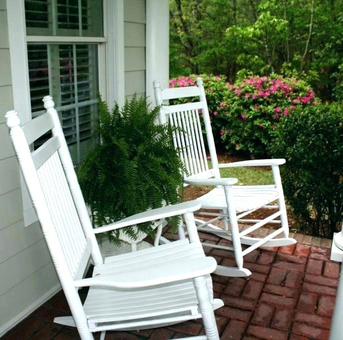 Chairs For Porch Cool Most Comfortable Rocking Chair Chairs For With Regard To Popular Patio Rocking Chairs Sets (View 18 of 20)