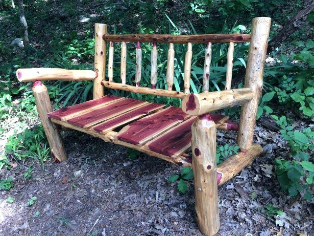 Char Log Patio Rocking Chair With Star (View 4 of 20)