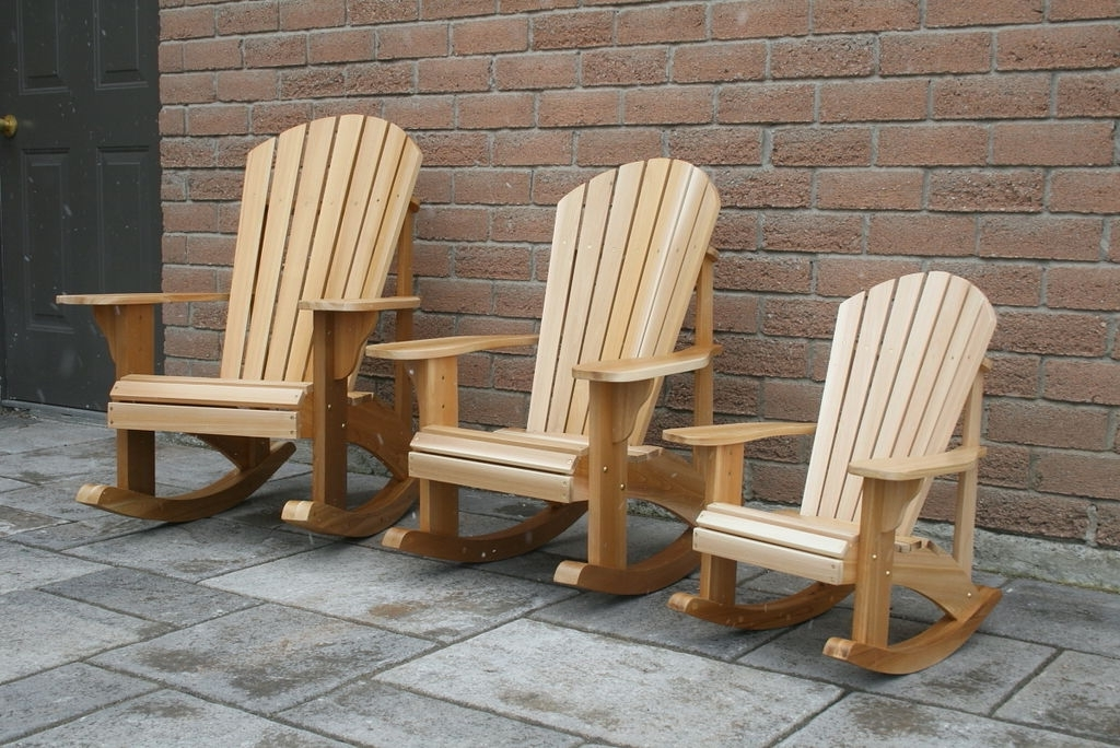 Child Size Adirondack Rocking Chairs Pertaining To Most Up To Date Rocking Chairs For Adults (View 5 of 20)